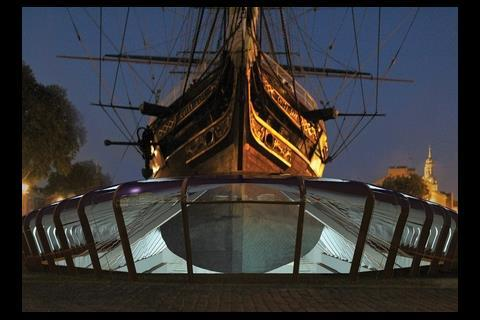 An artist's impression of what the Cutty Sark would have looked like after it had been restored